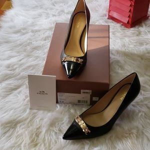 NWT Coach Bowery Glove Leather Pumps